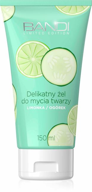 Delikatny żel do mycia twarzy Limonka/Ogórek